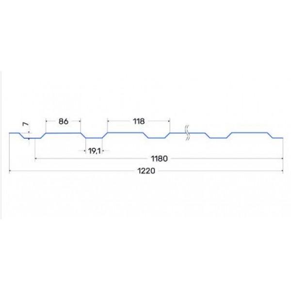 Профнастил Т-07 0,45мм Италия матовый