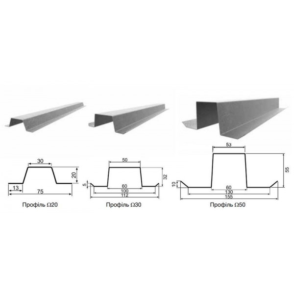 Профиль омега Ω-20 длина 3 метра
