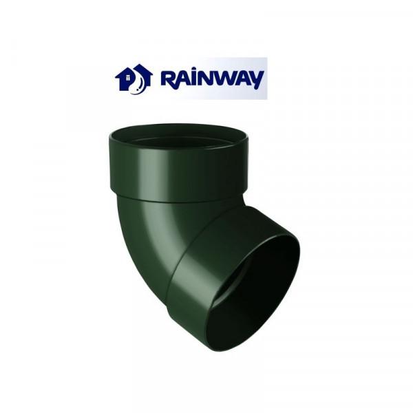 Отвод двумуфтовый 67º RainWay Ø100