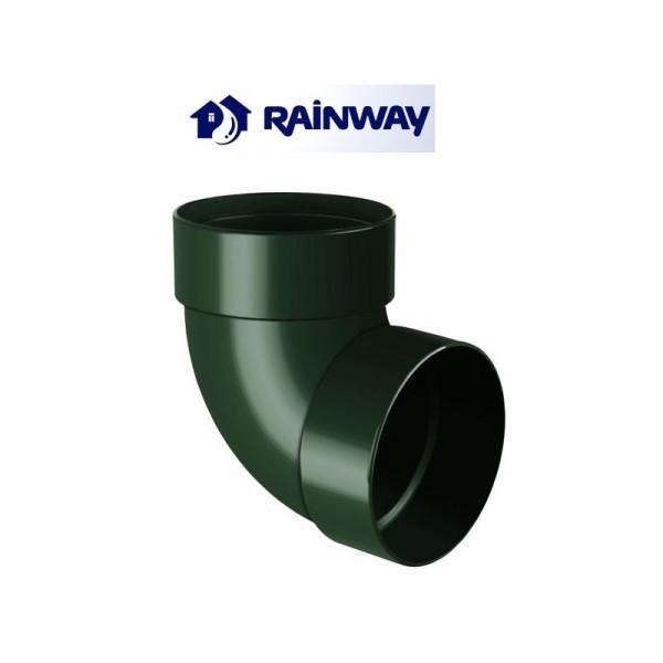 Отвод двумуфтовый 87º RainWay Ø75