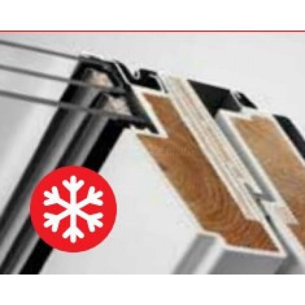 Velux Стандарт Плюс GLU 0061 двухкамерное влагостойкое окно из дерева в полиуретане ручка сверху