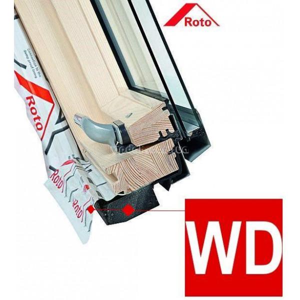 Roto Designo R45 из дерева с центральной осью поворота створки