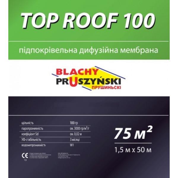 Подкровельная мембрана TOP ROOF 100
