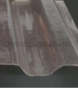 Поликарбонатний шифер Rober трапеция прозрачный текстурированный 0,8мм