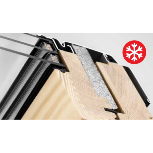 Velux Стандарт Плюс GLL 1061В двухкамерное окно из дерева ручка снизу