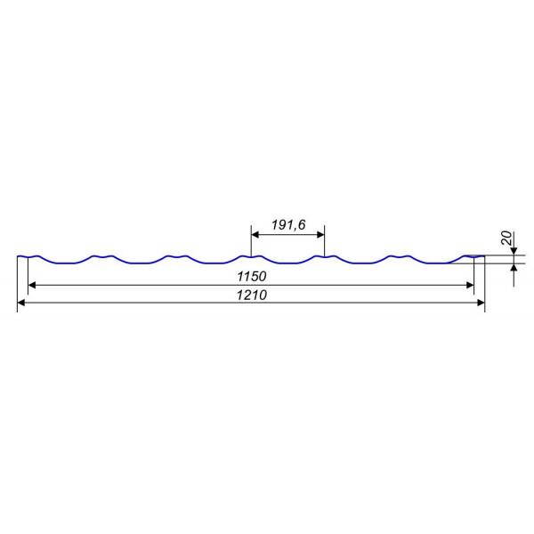 Металлочерепица Ера 0,45мм Италия матовая