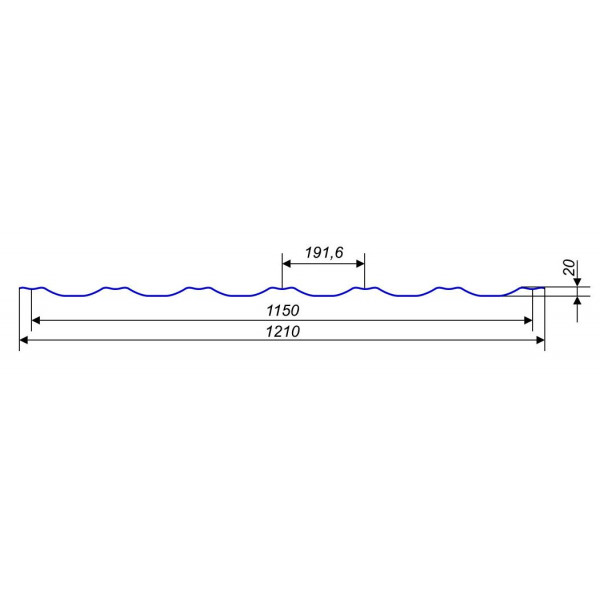 Металлочерепица Ера 0,45мм Турция матовая